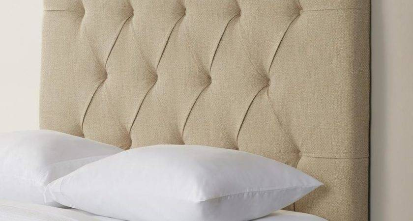 Upholstered Panel Headboard Padded Button Tufted King