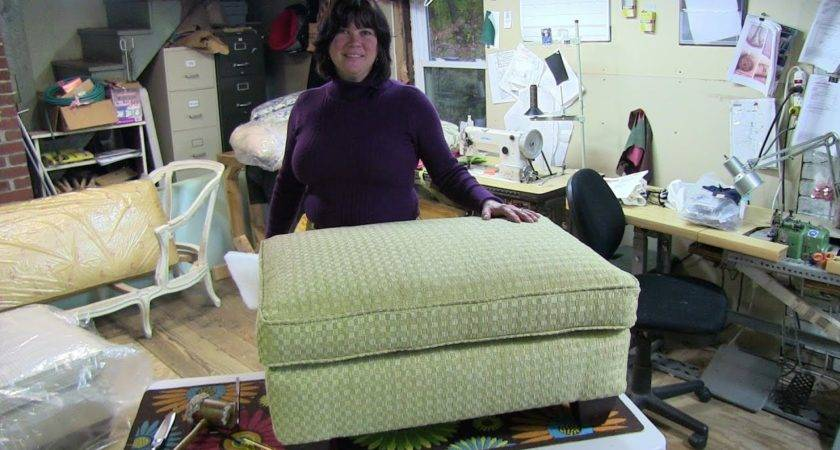 Upholstery Reupholster Pillowtop Ottoman Youtube