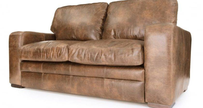 Urbanite Vintage Leather Seater Sofa Bed Old Boot