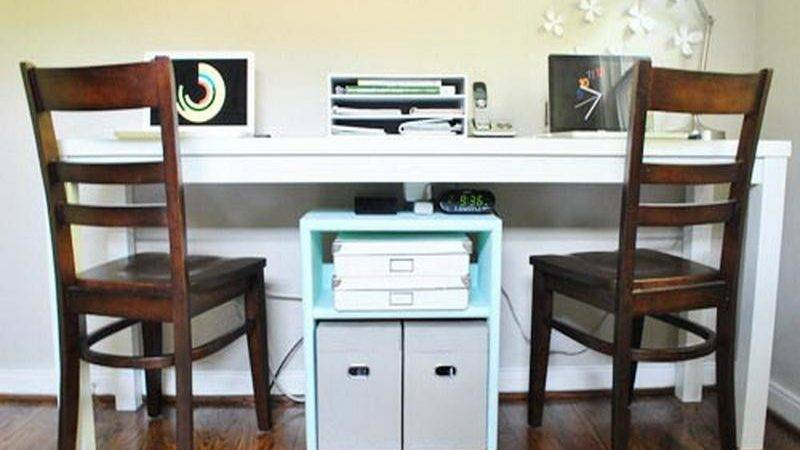 Useful Tips Two Person Desk Home Office Homeideasblog