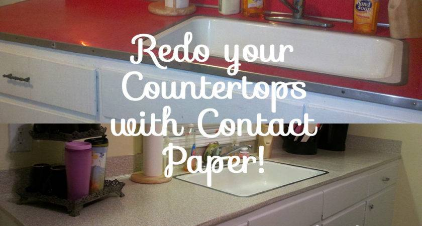 Using Contact Paper Cover Redo Countertops