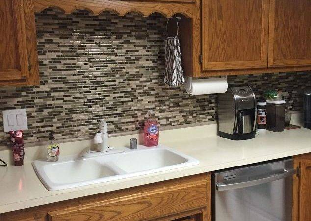 Using Vinyl Smart Tiles Kitchen Hometalk