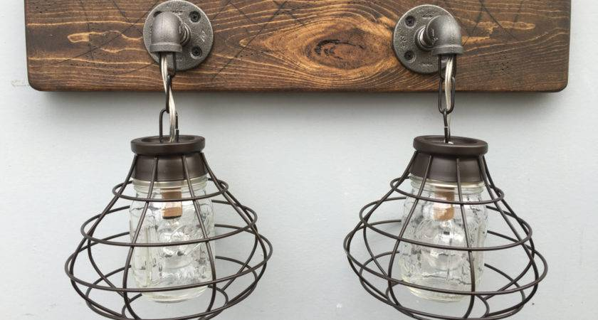 Vanity Light Fixture Mason Jar Shade