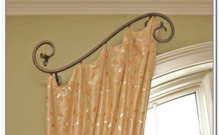 Various Concept Design Half Curtain Rods Homesfeed