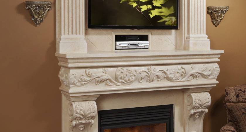 Venetian Classic Stone Fireplace Mantel Mantelsdirect