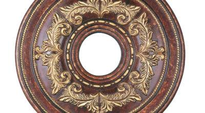 Verona Bronze Ceiling Medallion Livex Lighting Finished