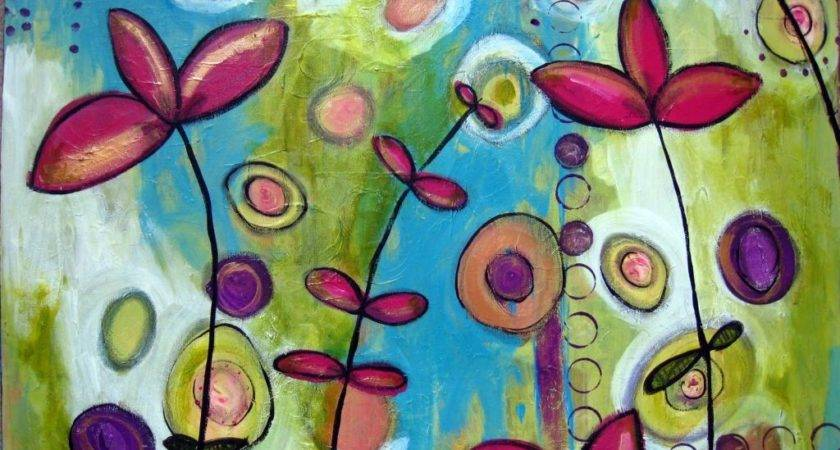 Very Cute Flowers Simple Painting Ideas Canvas
