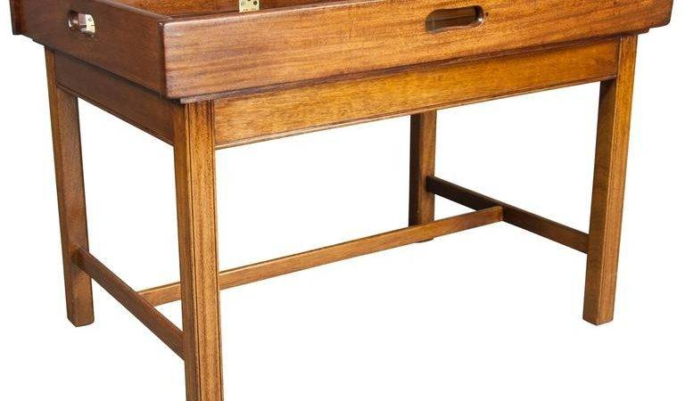 Victorian Mahogany Campaign Style Butlers Tray Coffee