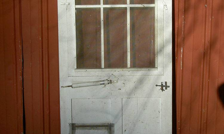 Vintage Antique Federal Style Farmhouse Wood Screen Door