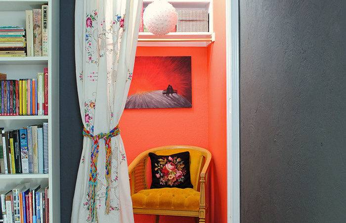 Vintage Boho Closet Reading Nook Gathered Home