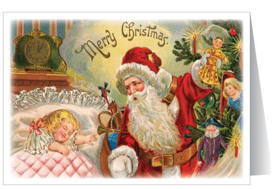Vintage Old Fashioned Christmas Card Ministry