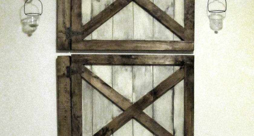 Vintage Rustic Barn Door Wall Decor Luxe