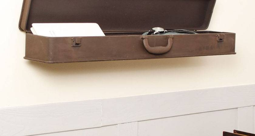 Vintage Suitcase Wall Shelf