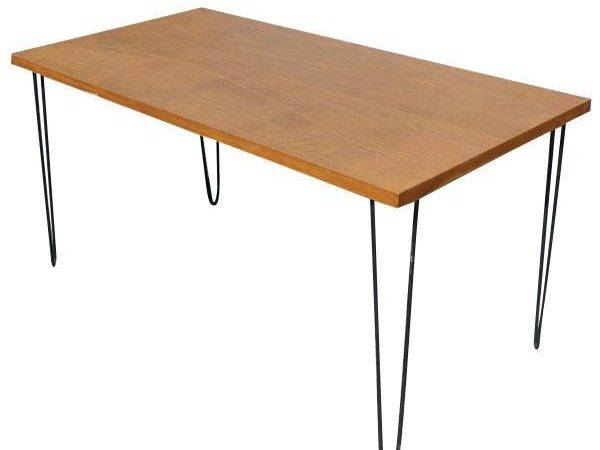 Vintage Wood Hairpin Iron Legs Dining Table
