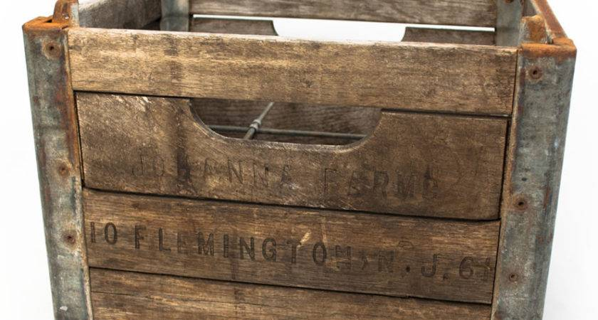 Vintage Wood Wine Crate Features Reclaimed