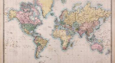 Vintage World Map Wall Mural Loveabode