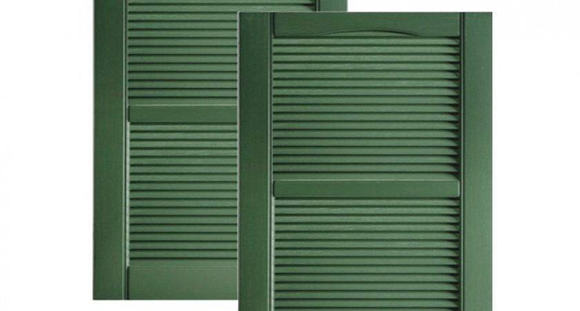 Vinyl Shutters Exterior Louvered