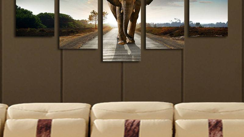 Wall Art Designs Extra Large Elephant Painting