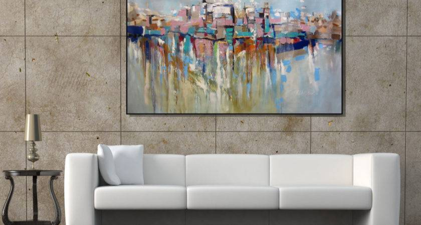 Wall Art Extra Large Painting Cityscape Abstract
