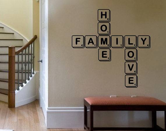 Wall Decal Home Love Scrabble Tiles