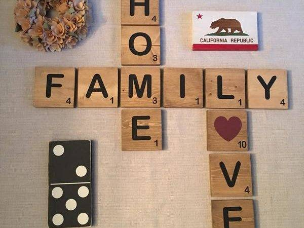 Wall Scrabble Tiles Tile Design Ideas
