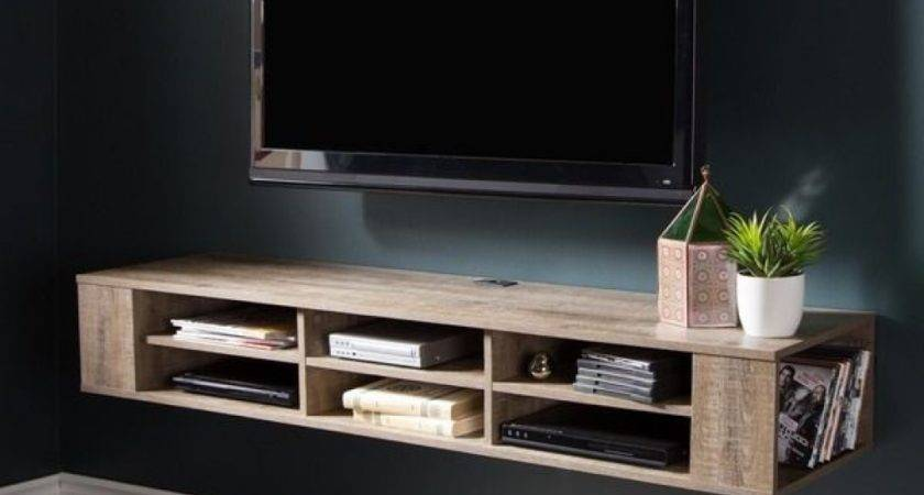 Wall Shelves Mounted Media