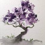 Watercolor Bonsai Tree Watercolors Marian
