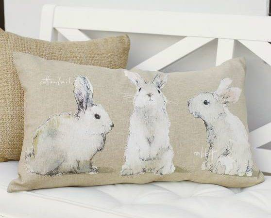 Watercolor Bunny Pillow Cover Pottery Barn