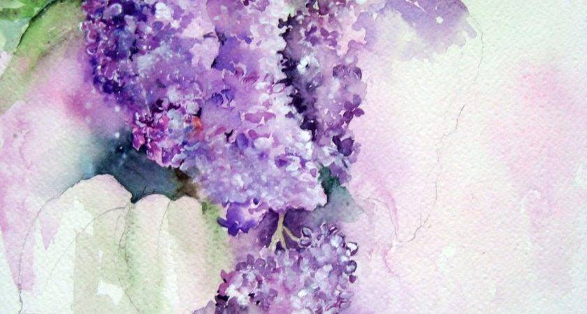 Watercolour Florals Lilac Blossom