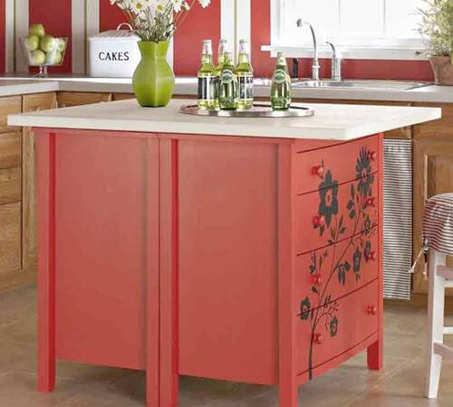 Ways Upcycle Your Old Dresser Into Kitchen Island