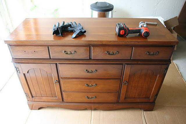 Ways Upcycle Your Old Dresser Into Kitchen