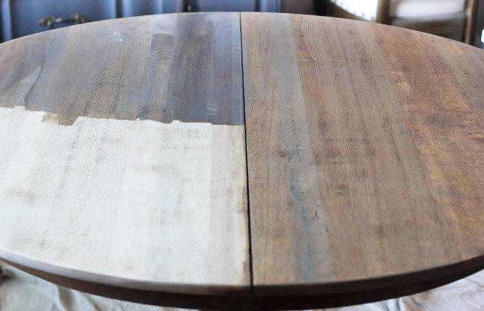 Weathered Oak Dining Table Makeover Bless House