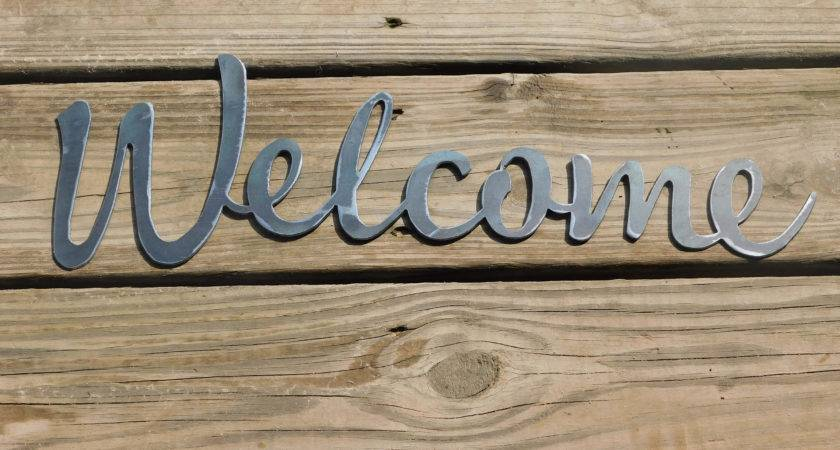 Welcome Sign Metal Farmhouse Letters