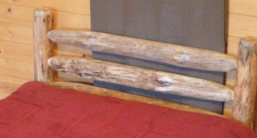 Western Corral Log Headboard Rustic Usa Handcrafted