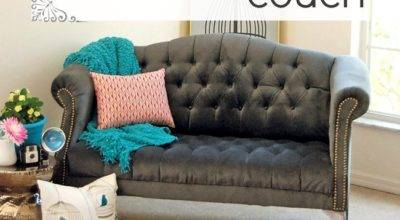 While They Snooze Reupholster Tufted Couch