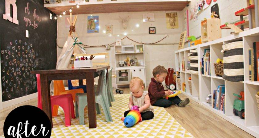 Whimsical Basement Playroom Project Nursery
