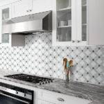 White Gray Marble Mix Backsplash Tile