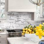 White Gray Subway Marble Backsplash Tile