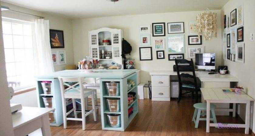 White Home Office Furniture Sewing Craft Room Ideas Ikea