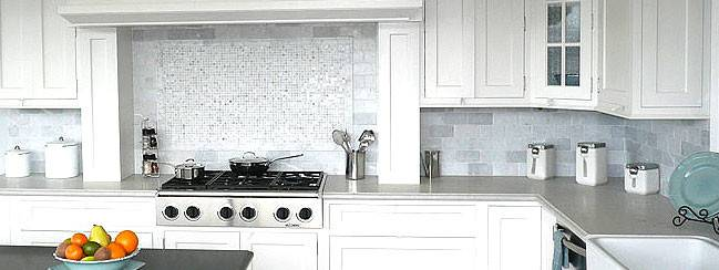 White Marble Subway Backsplash Tile