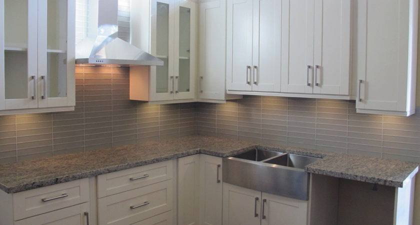 White Shaker Kitchen Cabinets Grey Island Home