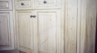 White Stained Cabinets Interiors Design