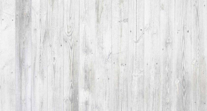 White Stained Washed Vintage Wood Boards Surface