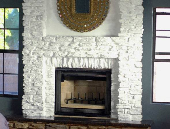 White Stone Fireplace Does Provide Feasible