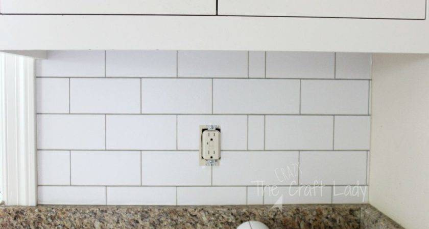 White Subway Tile Temporary Backsplash Tutorial