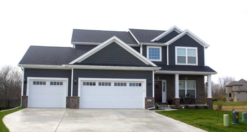 White Trim Royal Ironstone Dark Grey Siding Shakes