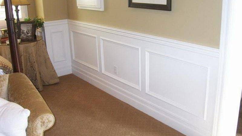 White Wainscoting Black Combination