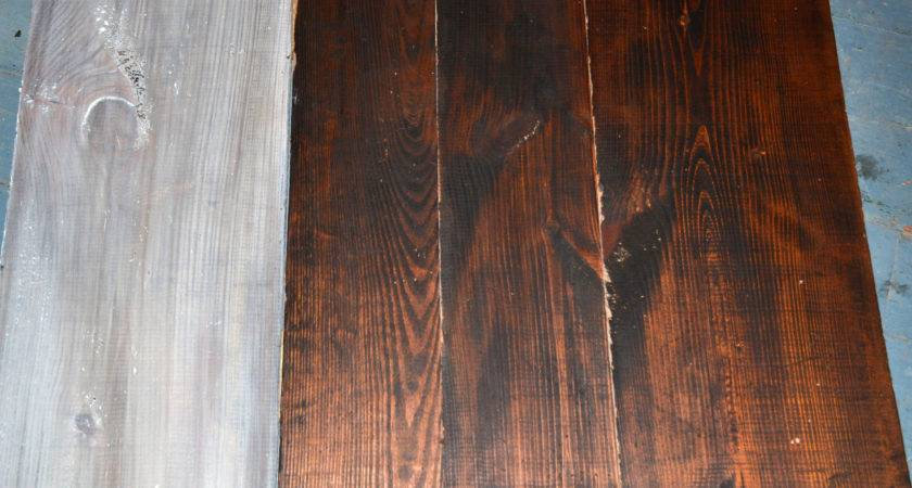 White Washing Stained Wood