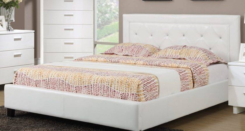White Wood Bed Steal Sofa Furniture Outlet