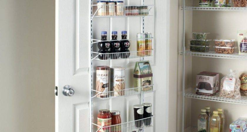 Wide Adjustable Shelf Over Door Pantry Closet